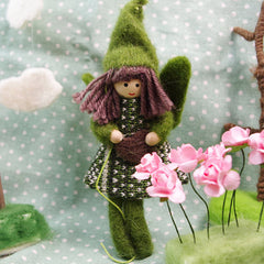 Needle Felted Felting Craft Green Fairy Cute