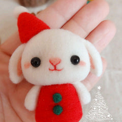 Needle Felted Felting project Wool Animals Bunny Reindeer Cute Craft
