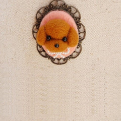 Needle Wool Felted Felting Animals Dog Necklace Cute
