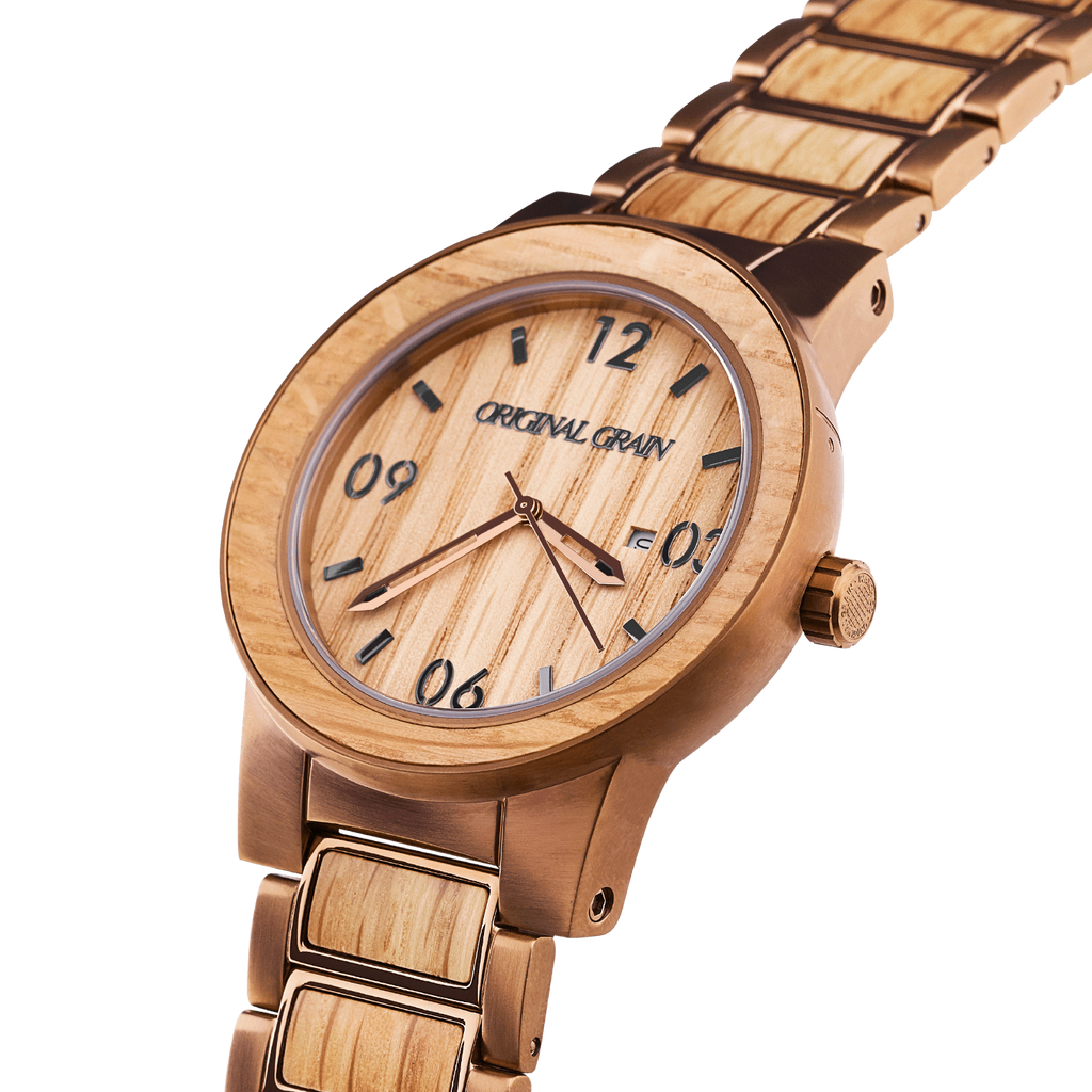original dp analog grain amazon wood watch japanese com steel watches movement wrist quartz whiskey stainless band and collection barrel