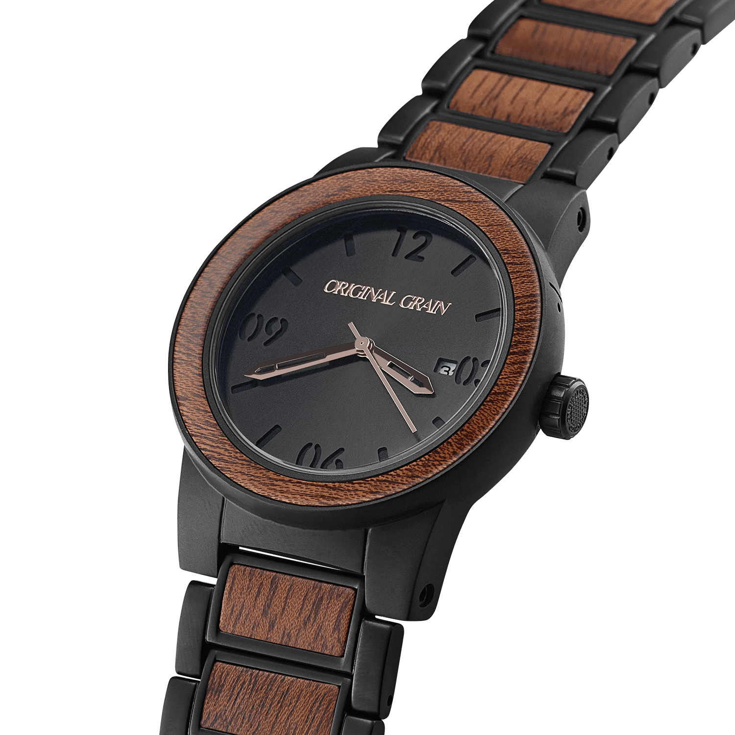original matte wood grain watches steel wrist black the watch classic maplewood maple