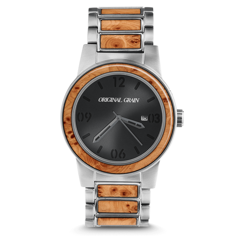 Burlwood Silver Barrel 42mm by Original Grain