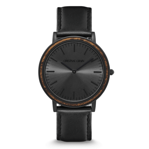 Ebony Black Minimalist 40mm