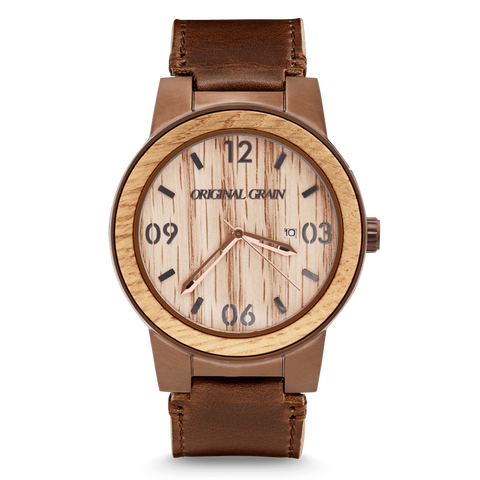 Whiskey Leather 47mm Barrel by Original Grain