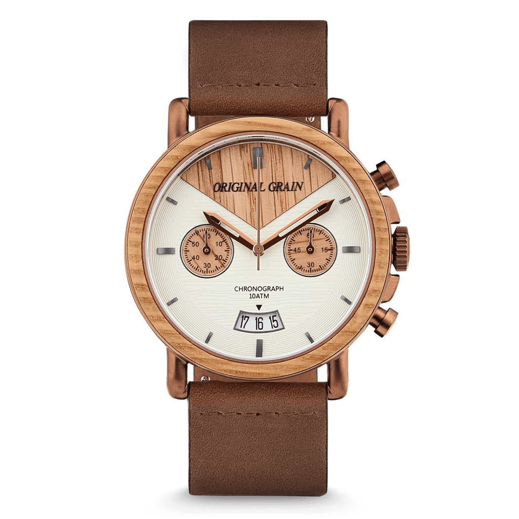 Whiskey Chrono Leather 44mm by Original Grain