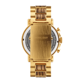 Chrono Zebrawood / Gold Steel