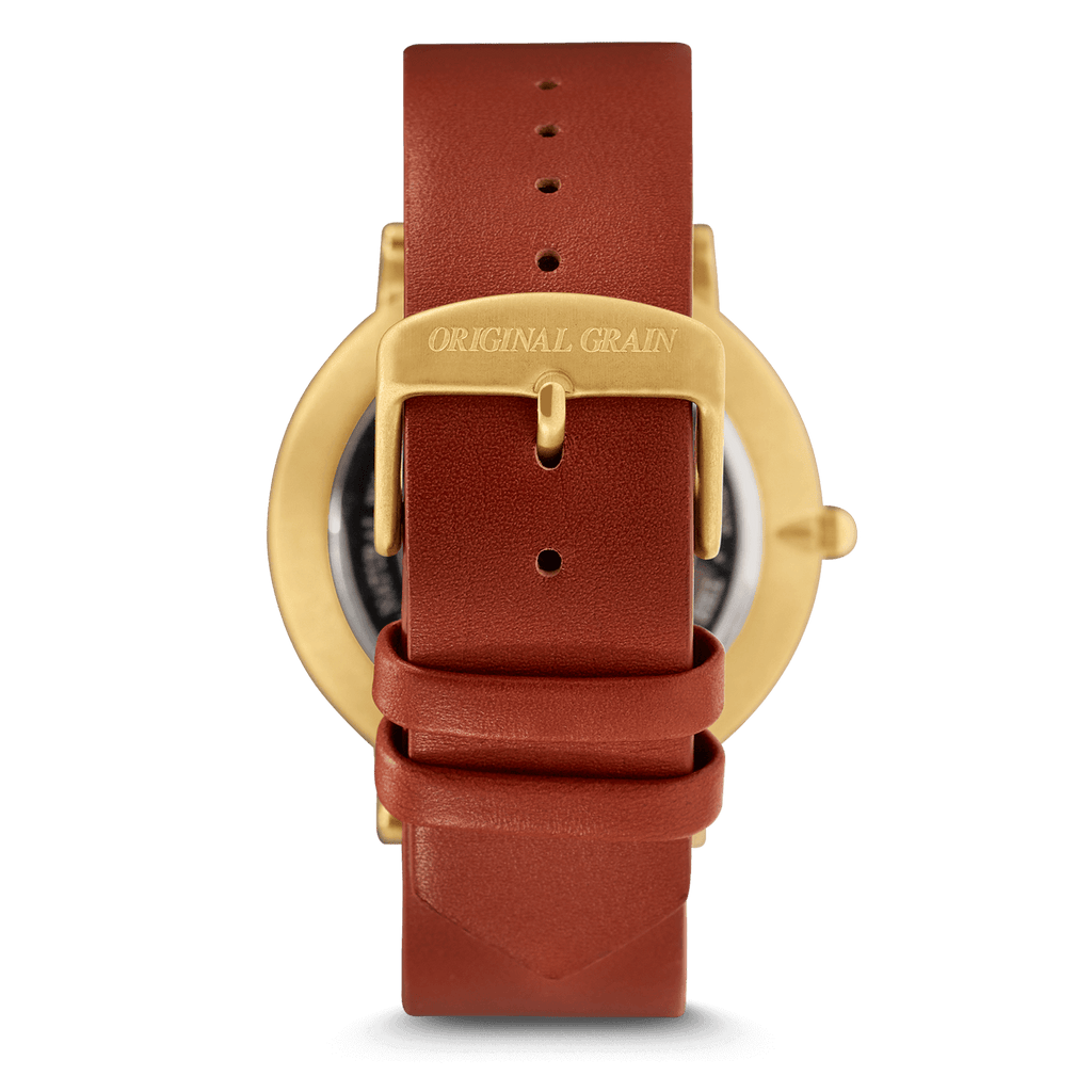 Cognac Gold Minimalist 40mm by Original Grain
