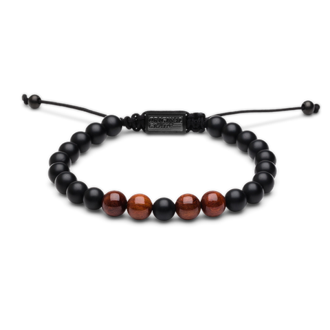 Rosewood Black Onyx Macrame Bracelet 8mm by Original Grain