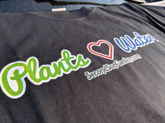 "Essential Short-Sleeve T-Shirt (Plants ""Love"" Water Logo)"