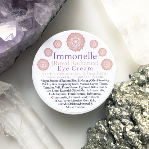 Immortelle~Eye Cream~ with Bakuchiol (Natural, SAFE, Retinol Alternative)