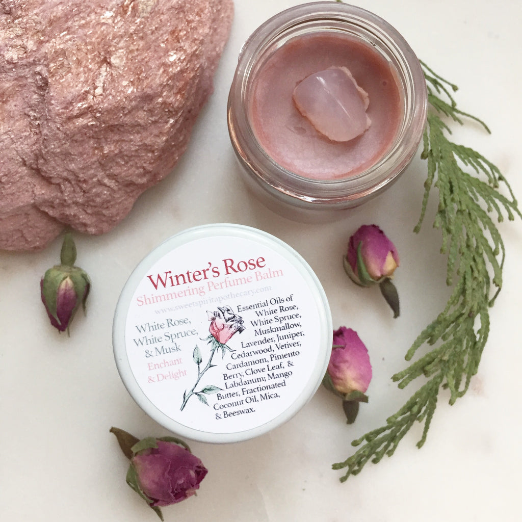 Winter's Rose Shimmering Perfume Balm