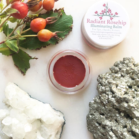Radiant Rosehip~ Illuminating Balm for lips and cheeks