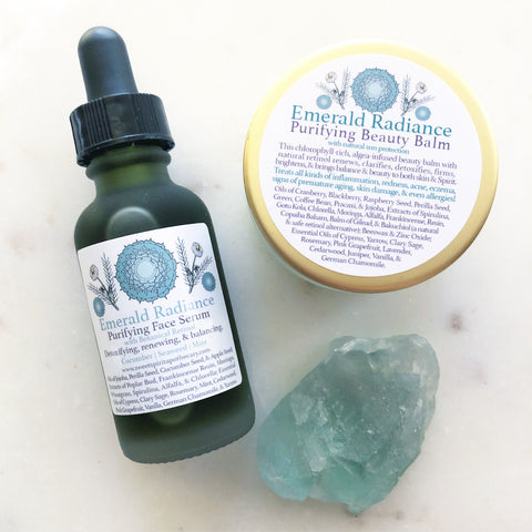 Emerald Radiance~ Purifying Face Duo~ with botanical retinol and sun protection!