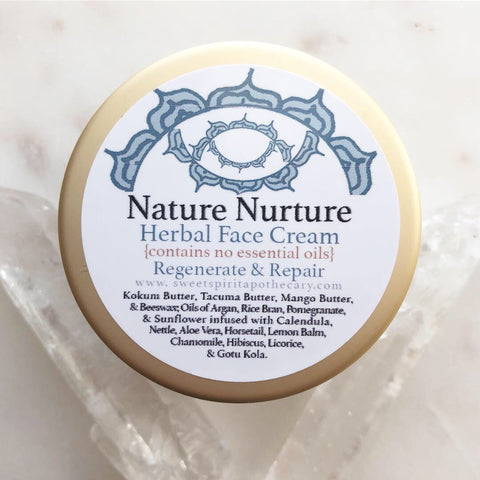 Nature Nurture~Herbal Face Cream~ Essential Oil Free for Sensitive skin types