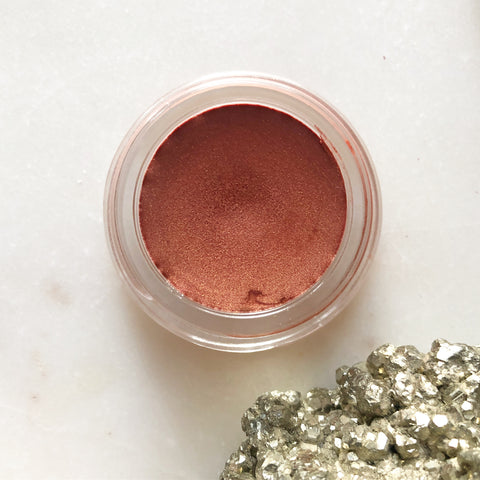 Toasted Peach~ Illuminating Balm~ natural makeup for lips, cheeks, and eyes