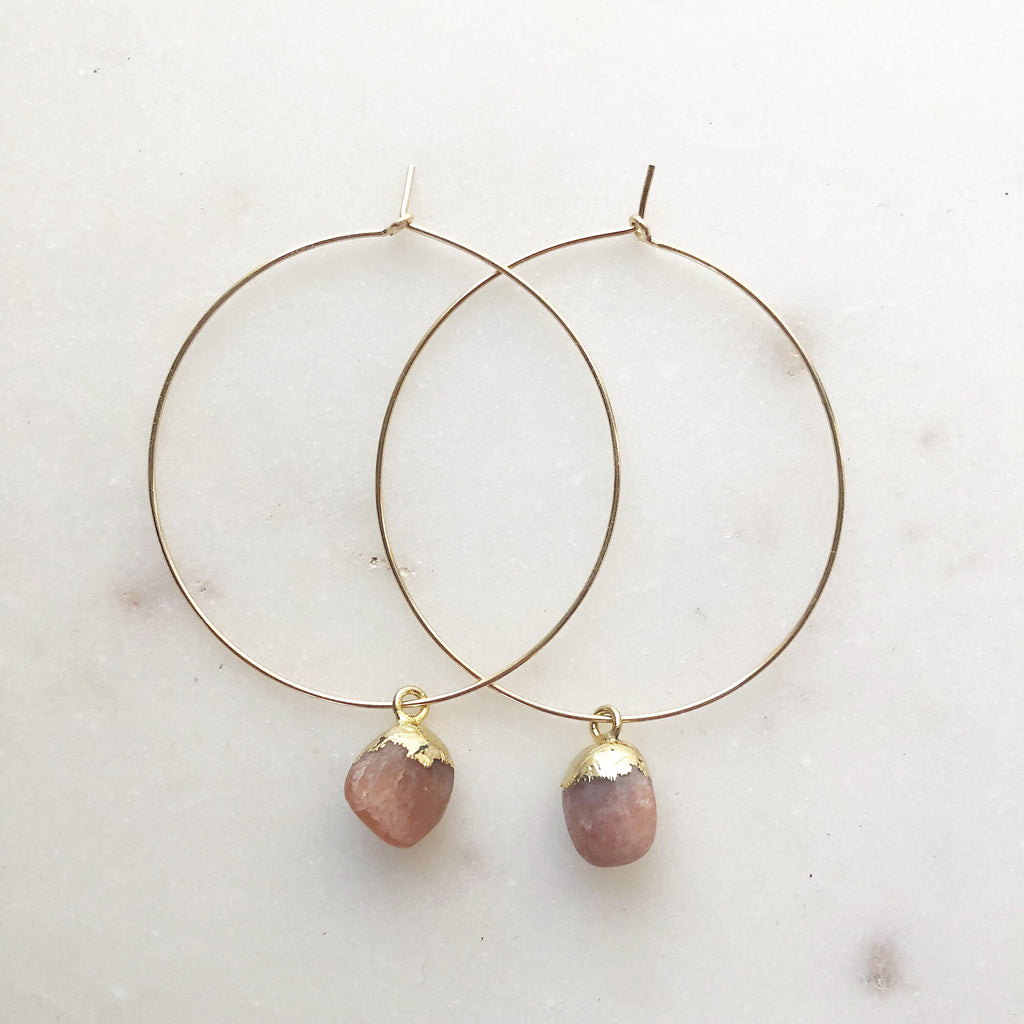 Sacred Sunstone Hoops