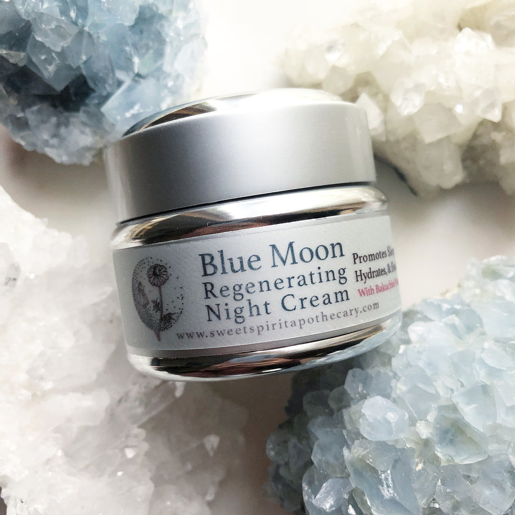 Blue Moon Night Cream~with Bakuchiol Booster~Natural non-irritating Retinol