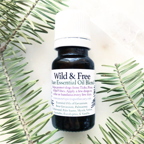 Wild and Free~ Pure Essential Oil Blend (tick repellent for dogs)