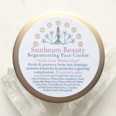 Sunbeam Beauty~ Regenerating Face Cream~ with Sun protection!