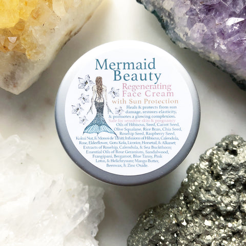 Mermaid Beauty~ Regenerating Face Cream~ with natural sun protection