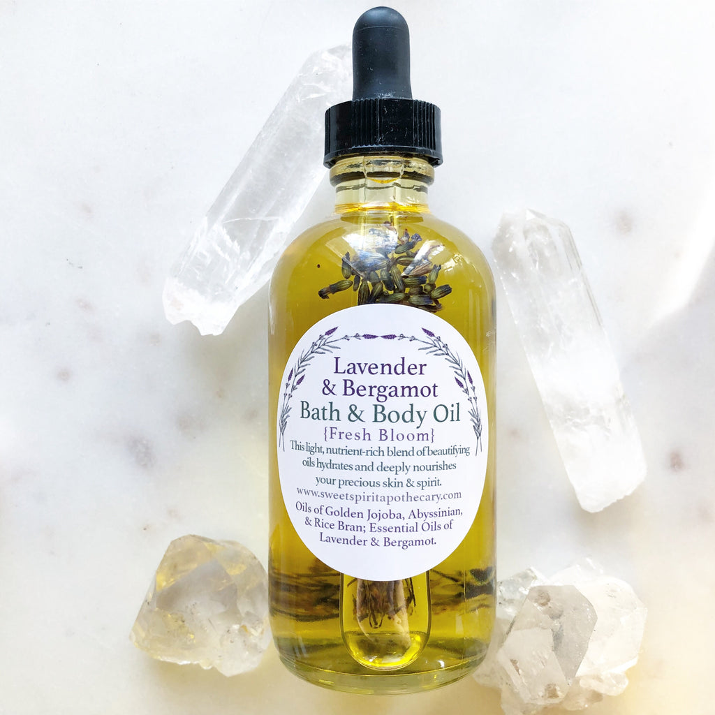 Lavender and Bergamot~Bath and Body Oil
