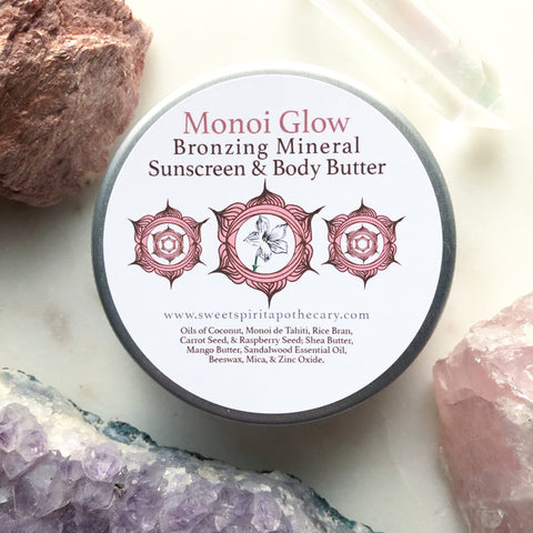 Monoi Glow~ Bronzing Sunscreen and Body Butter