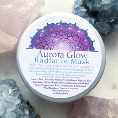 Aurora Glow~Radiance Mask~ with beautifying clays, natural vitamin C, and antioxidants