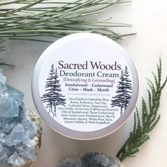 Sacred Woods~ Deodorant Cream~Detoxifying and Grounding