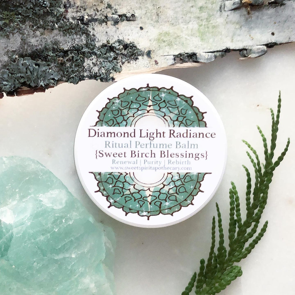 Diamond Light Radiance~ Ritual perfume balm~ Sweet Birch Blessings