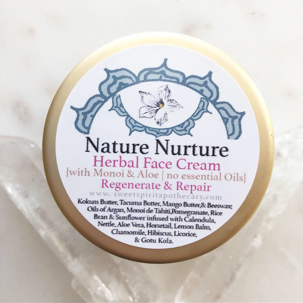 Nature Nurture~Herbal Face Cream~with Monoi (essential oil free!)