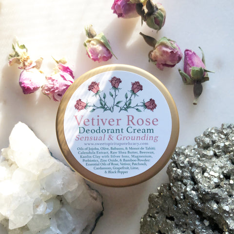 Vetiver Rose~Deodorant Cream