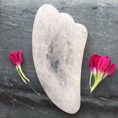Rose Quartz Gua Sha (Chinese skin scraping tool)