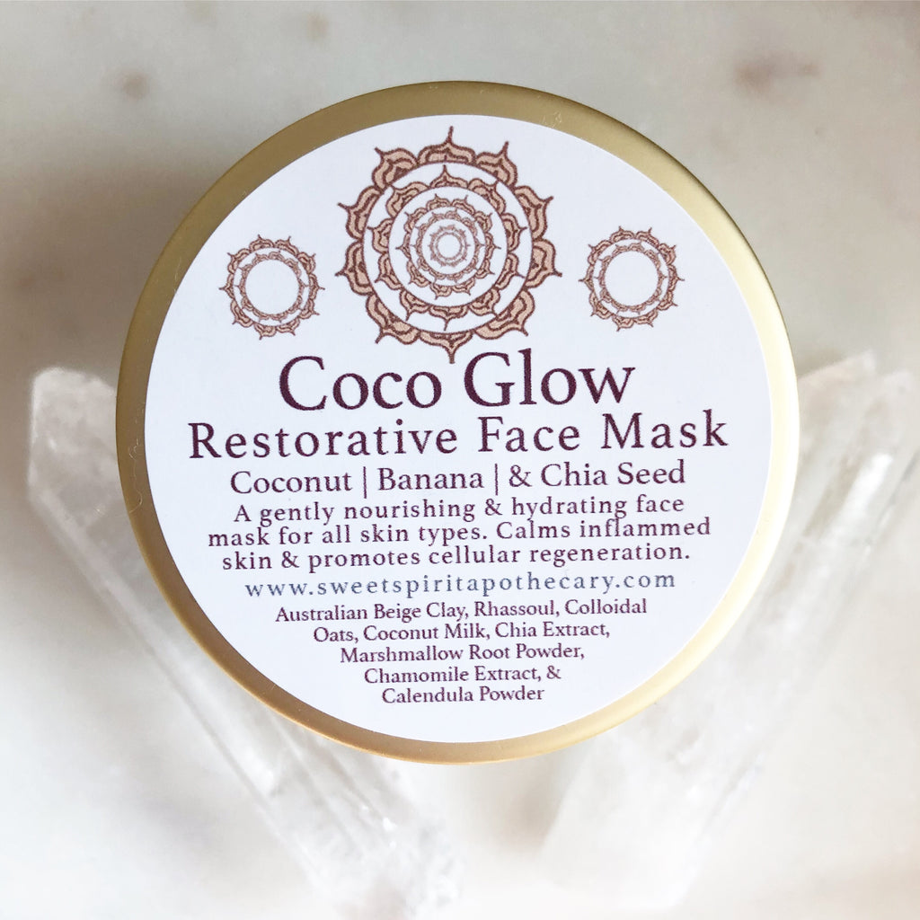 Coco Glow~Face Mask with chia, coconut, and chamomile