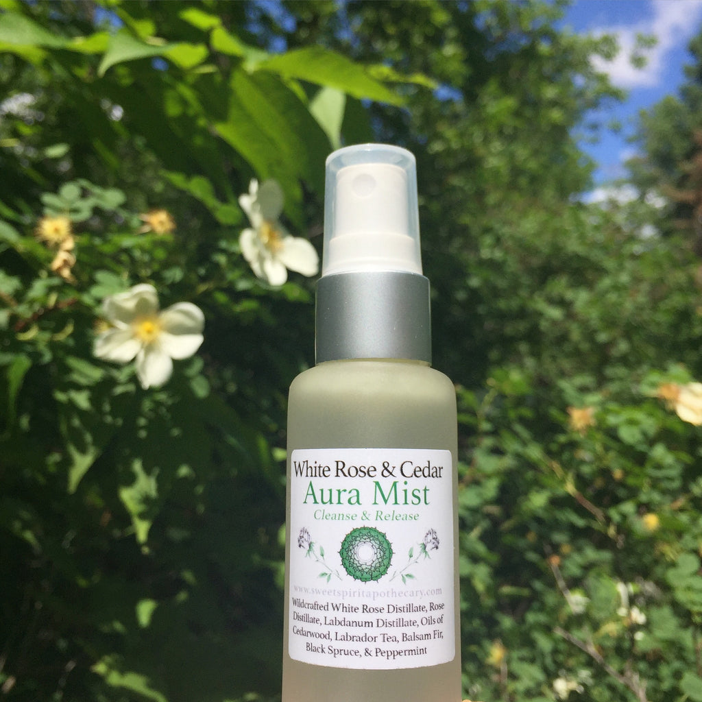 White Rose and Cedar - Aura Cleansing Mist/Precious Perfume