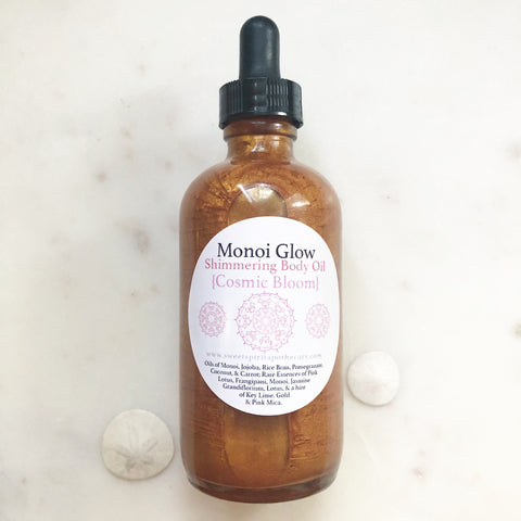 Monoi Glow- Cosmic Bloom- Shimmering Body Oil (gold)