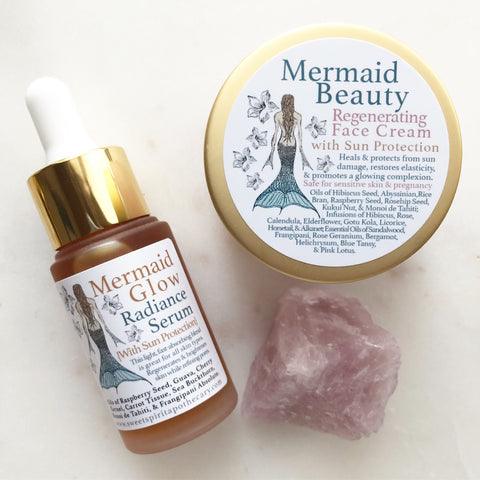 Mermaid Beauty~Beautifying Duo~Face Cream and Serum with Sun Protection