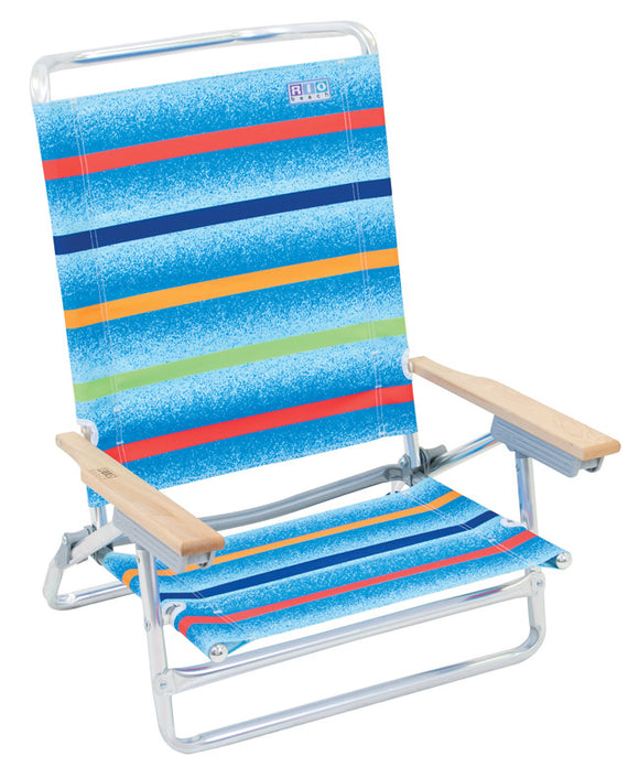Deluxe High Back 5 Position Chair from Rio Brands