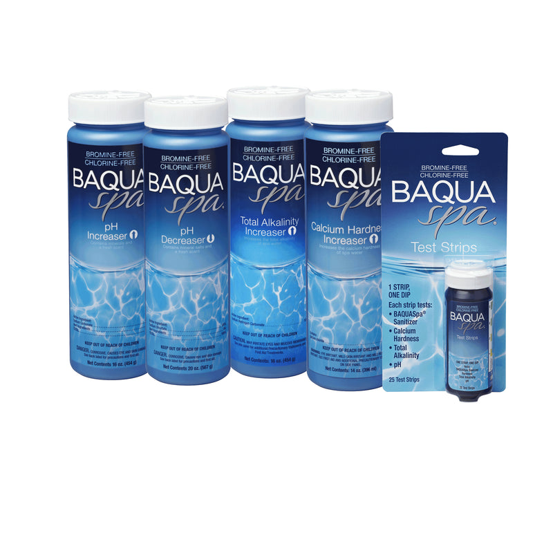 Baqua Spa Balancer Bundle + Test Strips