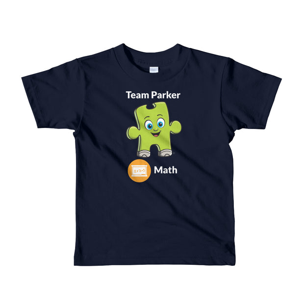 Team Parker Math Short Sleeve Kids T-shirt (Ages 2-6 years old)