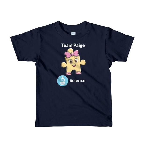 Team Paige Science Short Sleeve Kids T-shirt (Ages 2-6 years old)