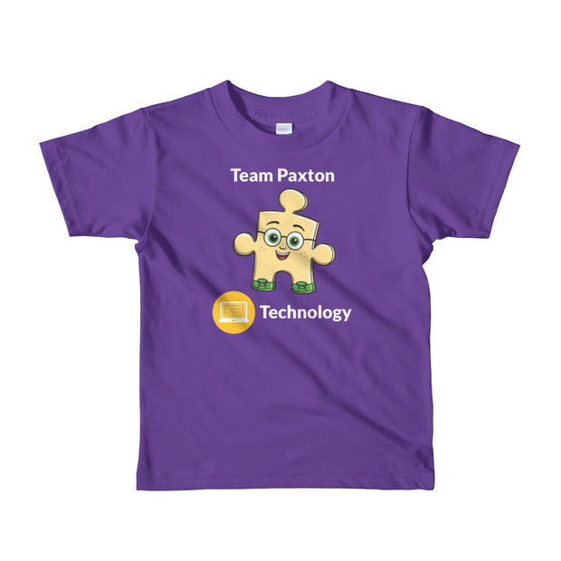 Team Paxton Technology Short Sleeve Kids T-shirt (Ages 2-6 years old)