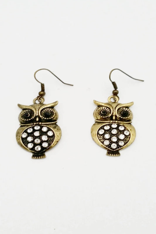 Pendant Owl Earrings - Spoiled Me Rotten Boutique