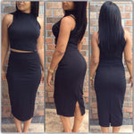 High Neck Pencil Skirt - Spoiled Me Rotten Boutique