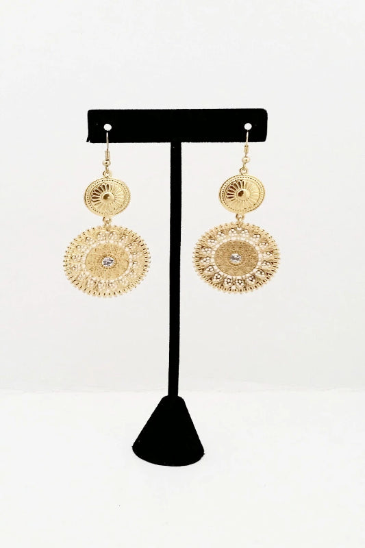 Two-Tier Ball Drop Earrings - Spoiled Me Rotten Boutique