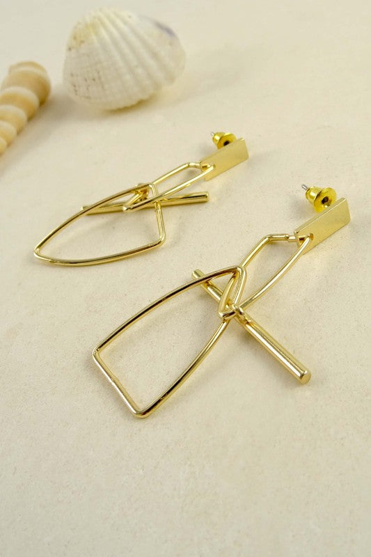 T - Bar Earrings - Spoiled Me Rotten Boutique