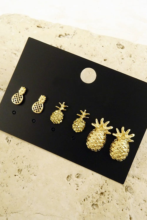 Pineapple Earrings - Spoiled Me Rotten Boutique