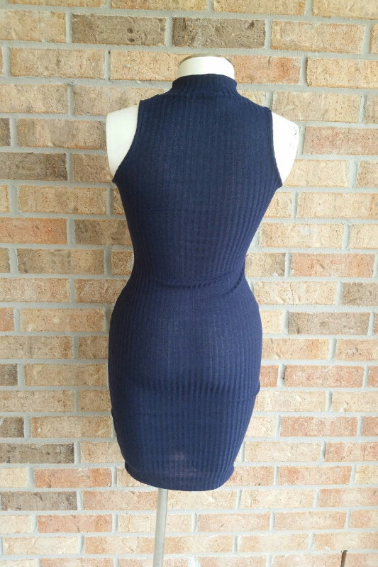 Navy Sleeveless Dress - Spoiled Me Rotten Boutique