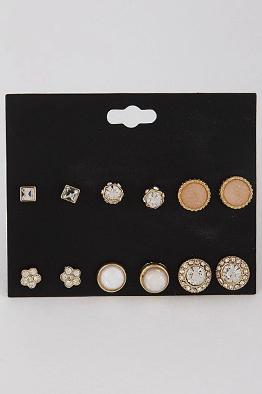 Rhinestone Stud Earring Set - Spoiled Me Rotten Boutique