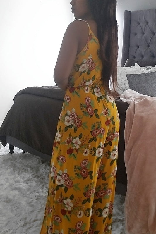 Sunrise Floral Jumpsuit - Spoiled Me Rotten Boutique
