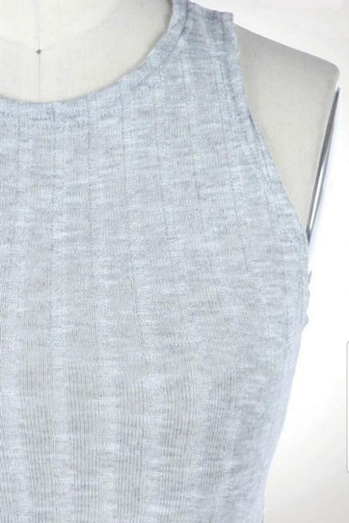 Ribbed Sleeveless Cropped Top - Spoiled Me Rotten Boutique